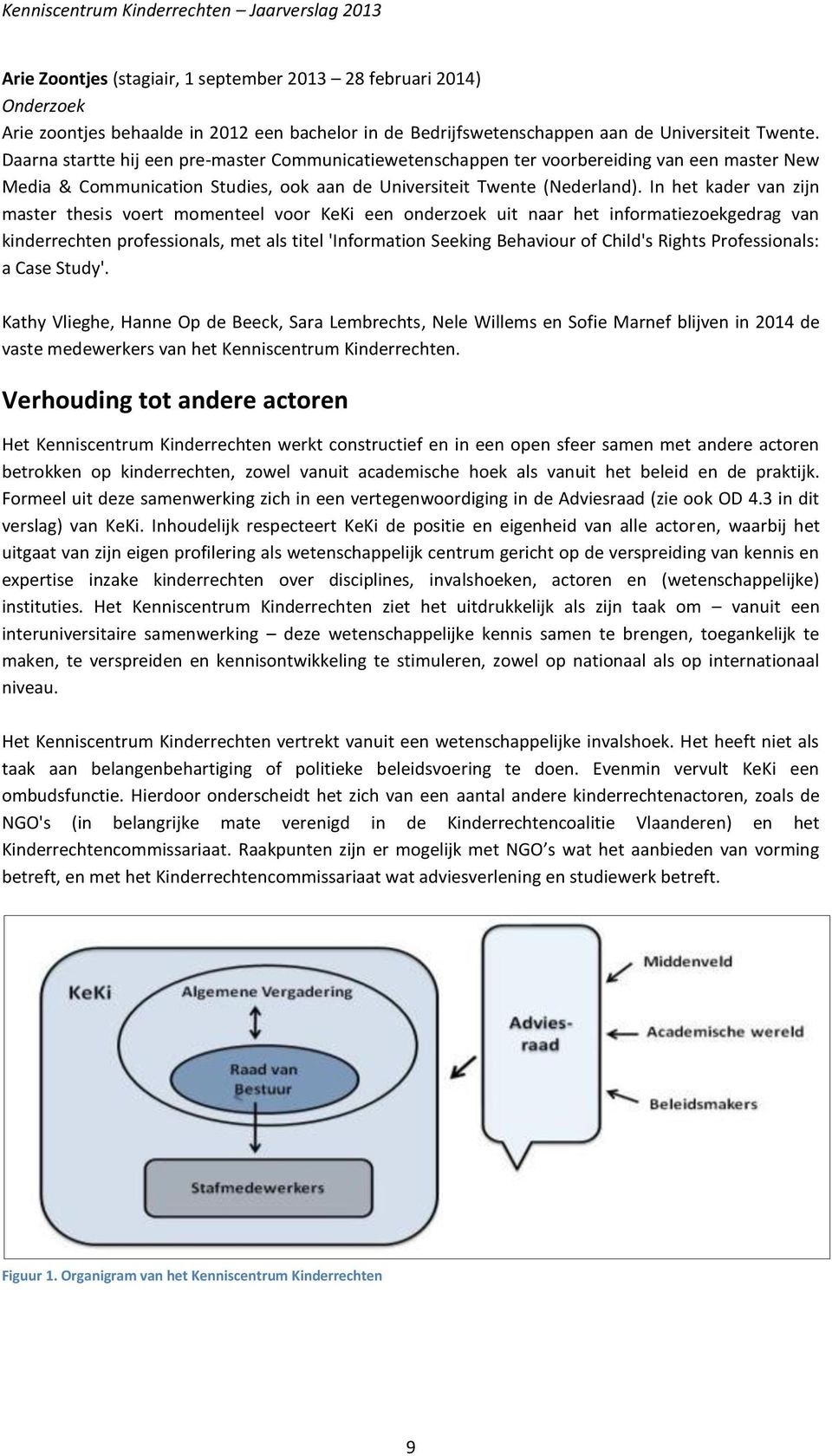 In het kader van zijn master thesis voert momenteel voor KeKi een onderzoek uit naar het informatiezoekgedrag van kinderrechten professionals, met als titel 'Information Seeking Behaviour of Child's