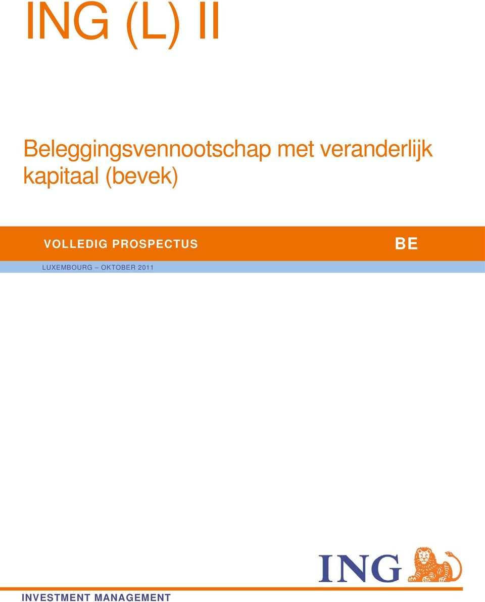 VOLLEDIG PROSPECTUS BE LUXEMBOURG