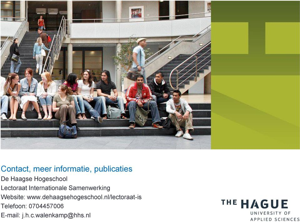 Website: www.dehaagsehogeschool.