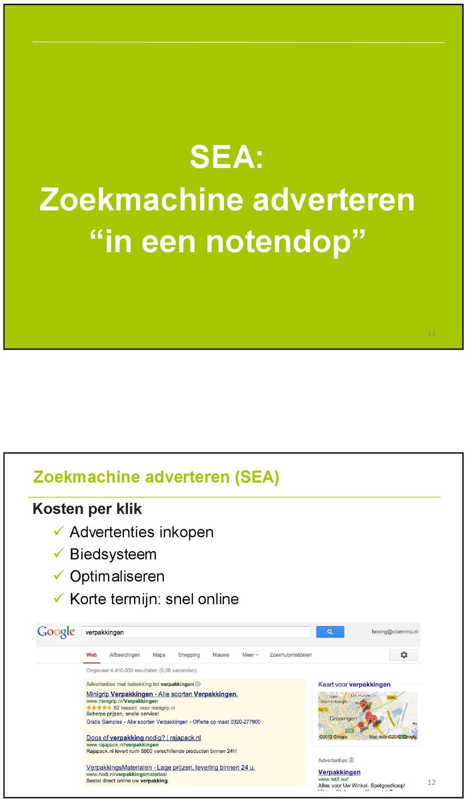 Kosten per klik Advertenties inkopen