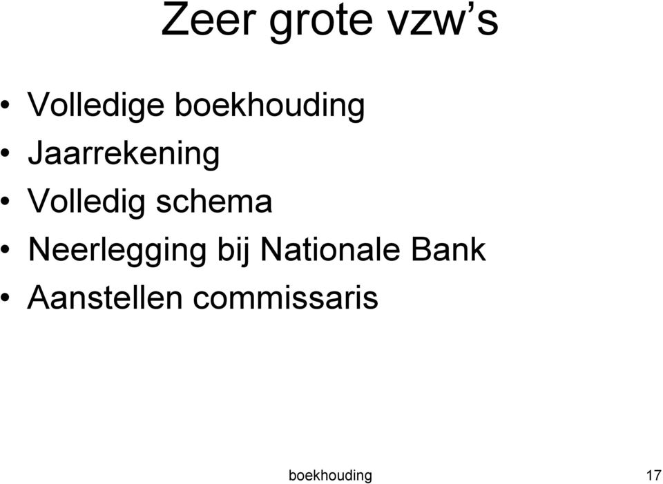 schema Neerlegging bij Nationale