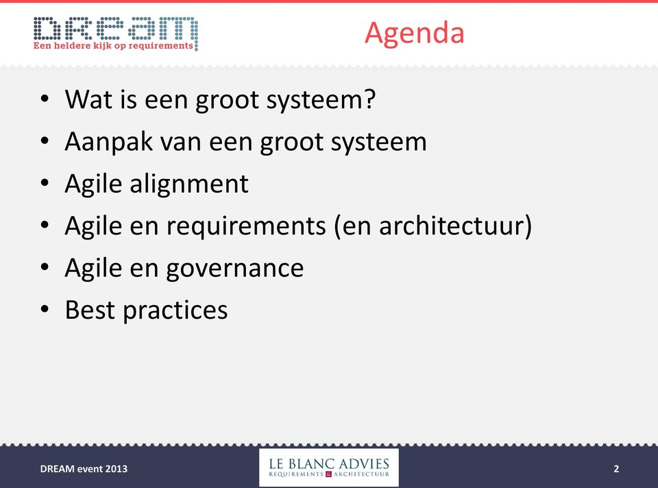 alignment Agile en requirements (en