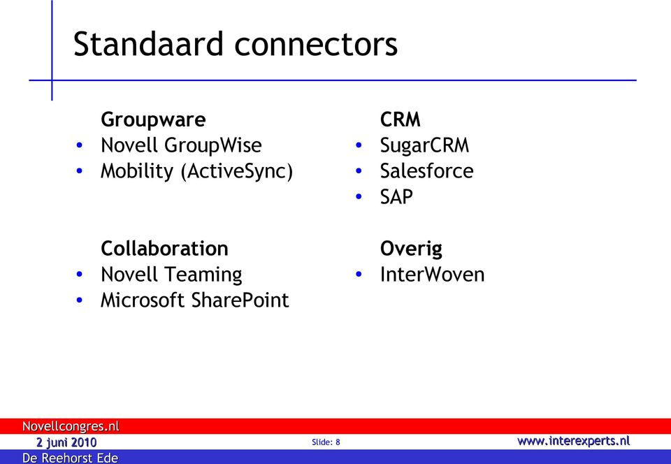 SugarCRM Salesforce SAP Collaboration