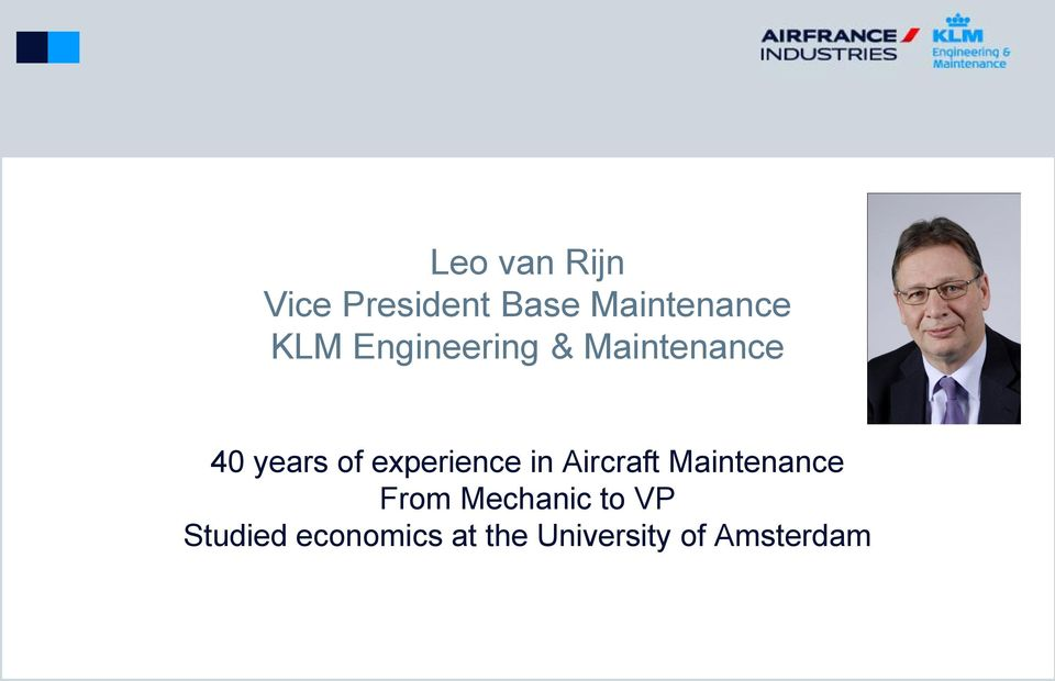 experience in Aircraft Maintenance From
