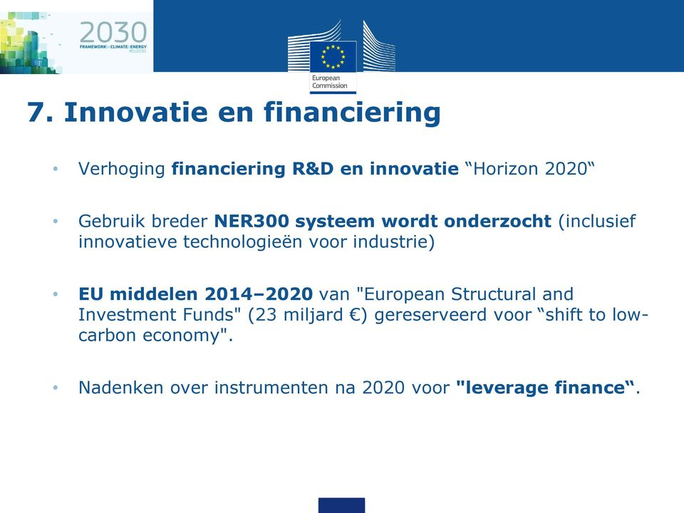 "EU middelen 2014 2020 van ""European Structural and Investment Funds"" (23 miljard )"