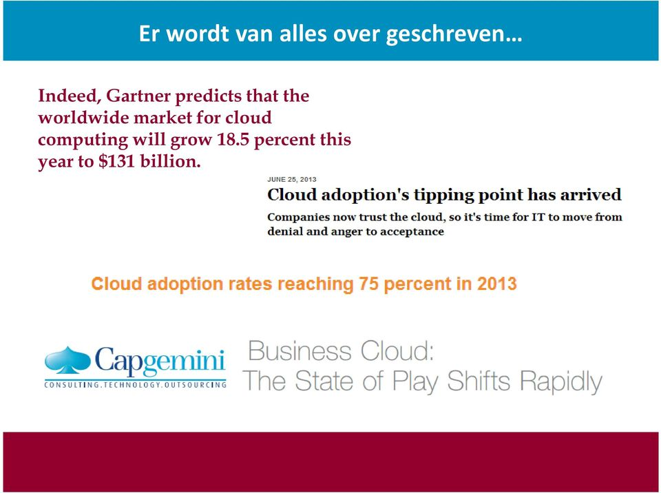 worldwide market for cloud computing