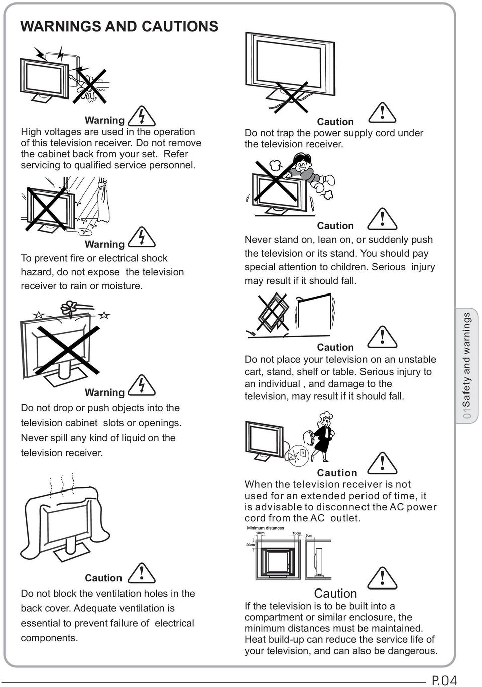 Led Lcd Tv Receiver User Manual Pdf Block Diagram Of Warning To Prevent Fire Or Electrical Shock Hazard Do Not Expose The Television