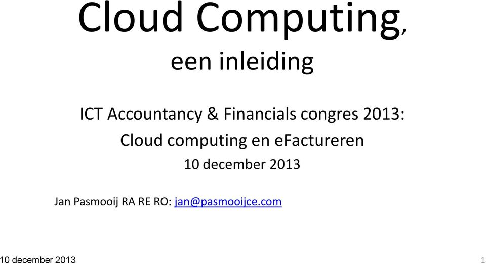 computing en efactureren 10 december 2013 Jan