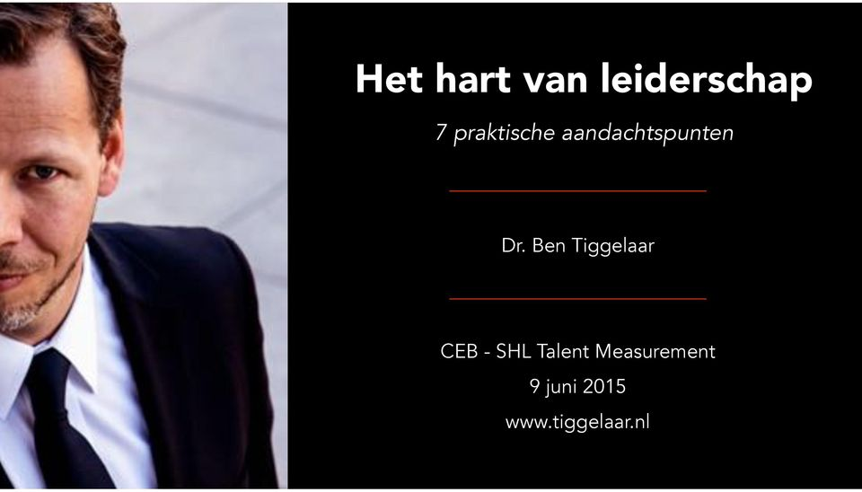 Ben Tiggelaar CEB - SHL Talent
