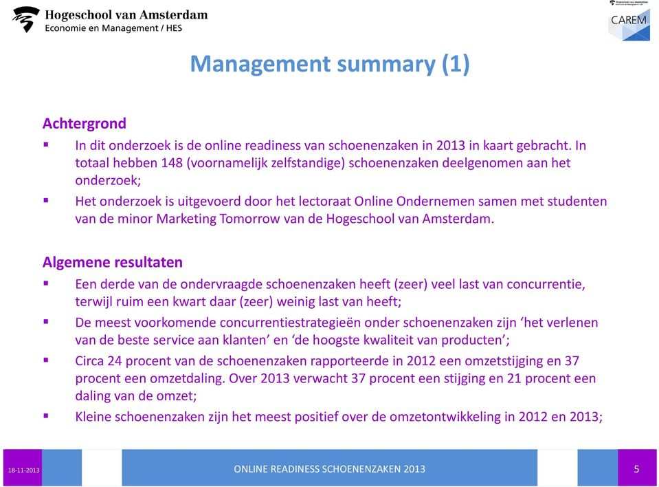 Marketing Tomorrow van de Hogeschool van Amsterdam.