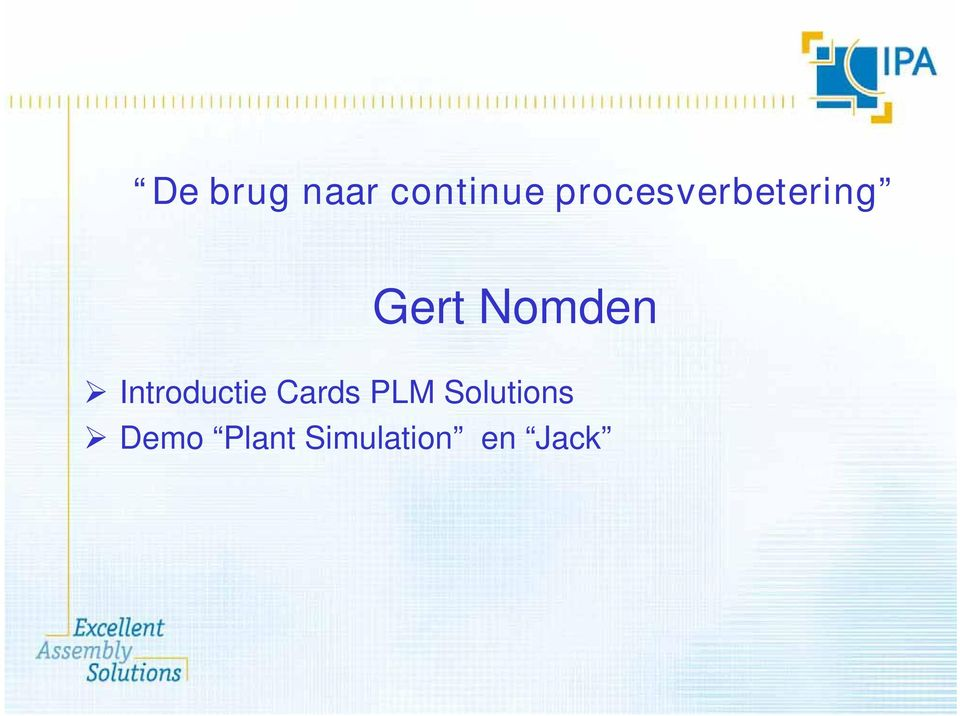 Nomden Introductie Cards PLM