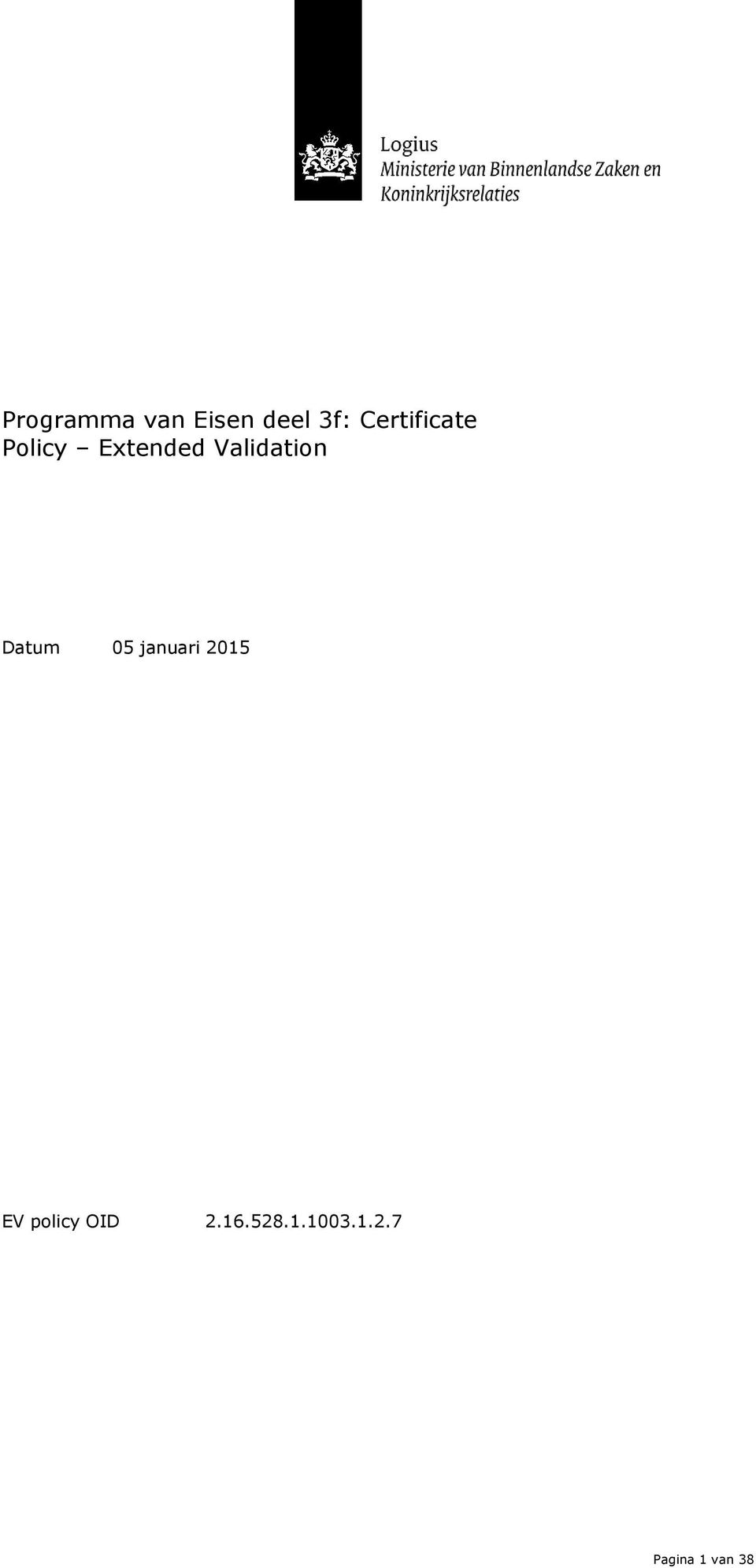 Validation Datum 05 januari 2015 EV