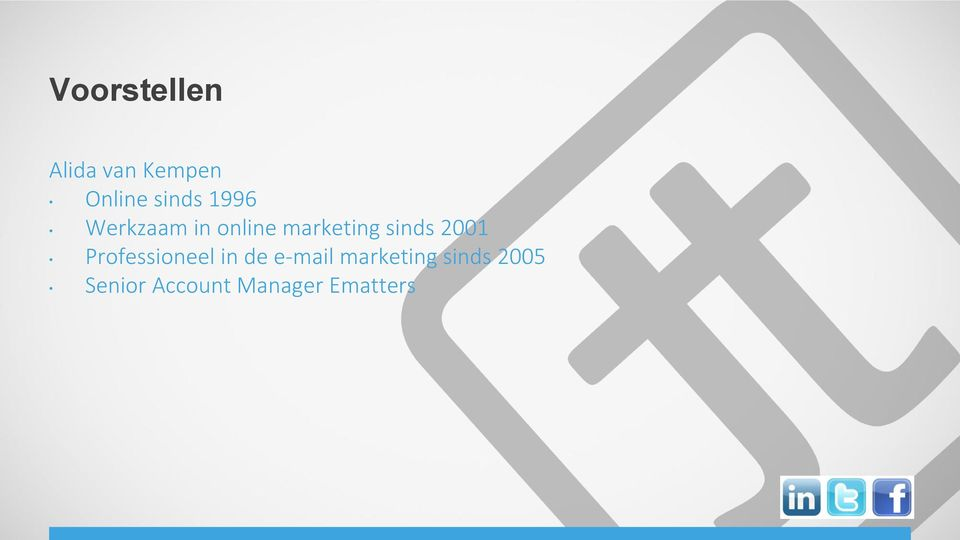 2001 Professioneel in de e-mail marketing