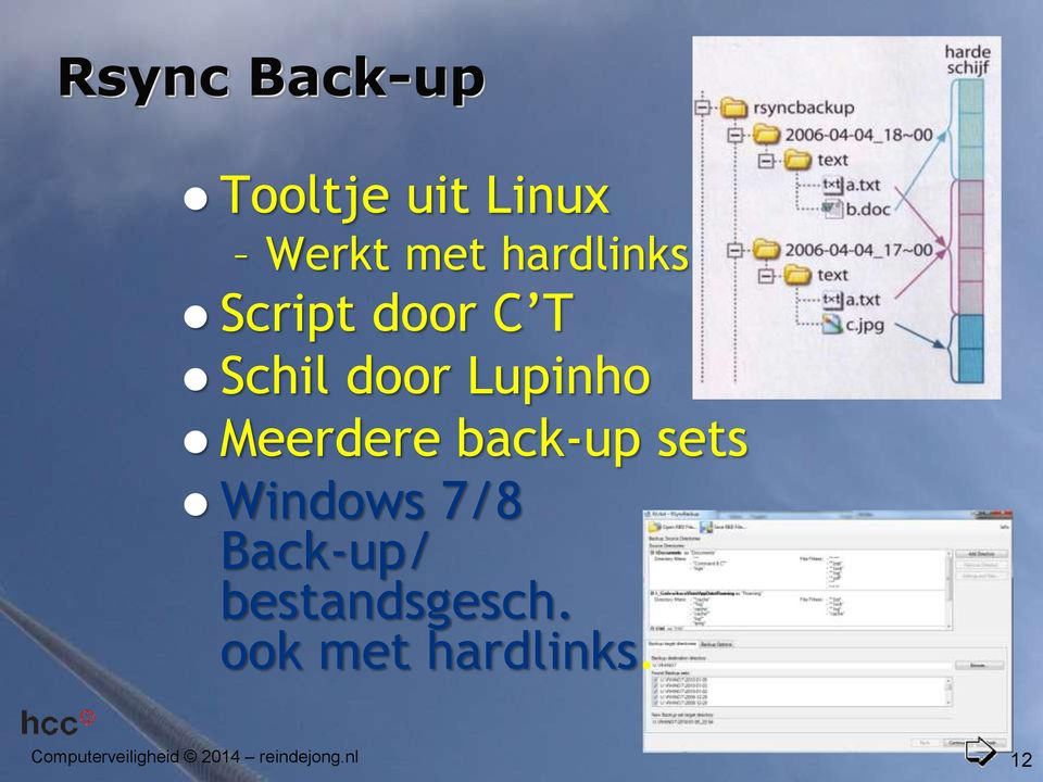 Meerdere back-up sets Windows 7/8 Back-up/