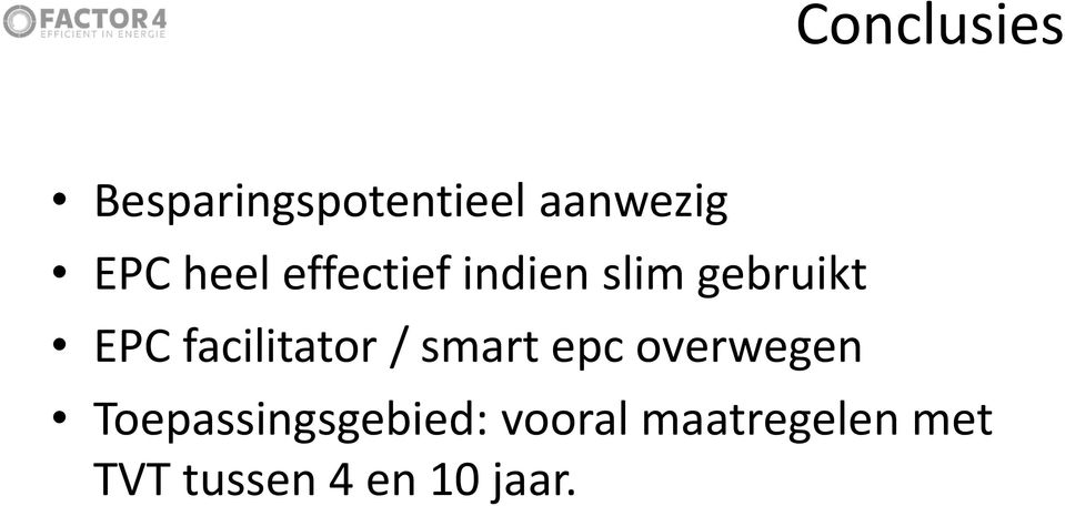 facilitator / smart epc overwegen