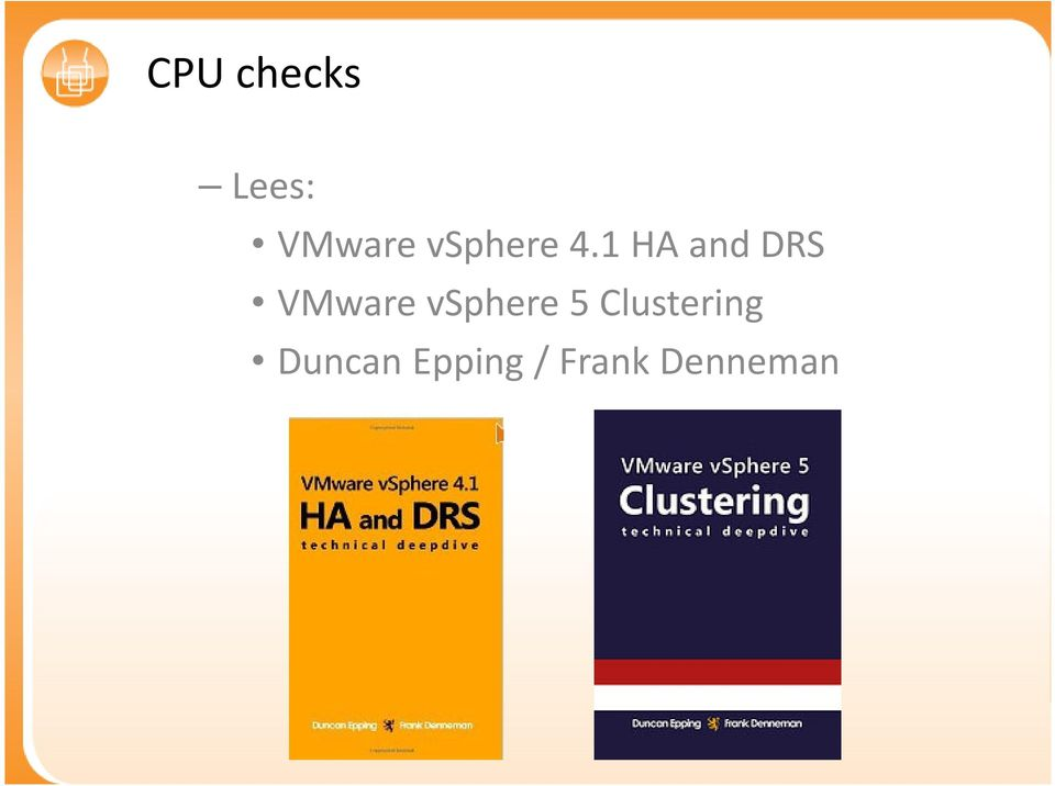 1 HA and DRS VMware