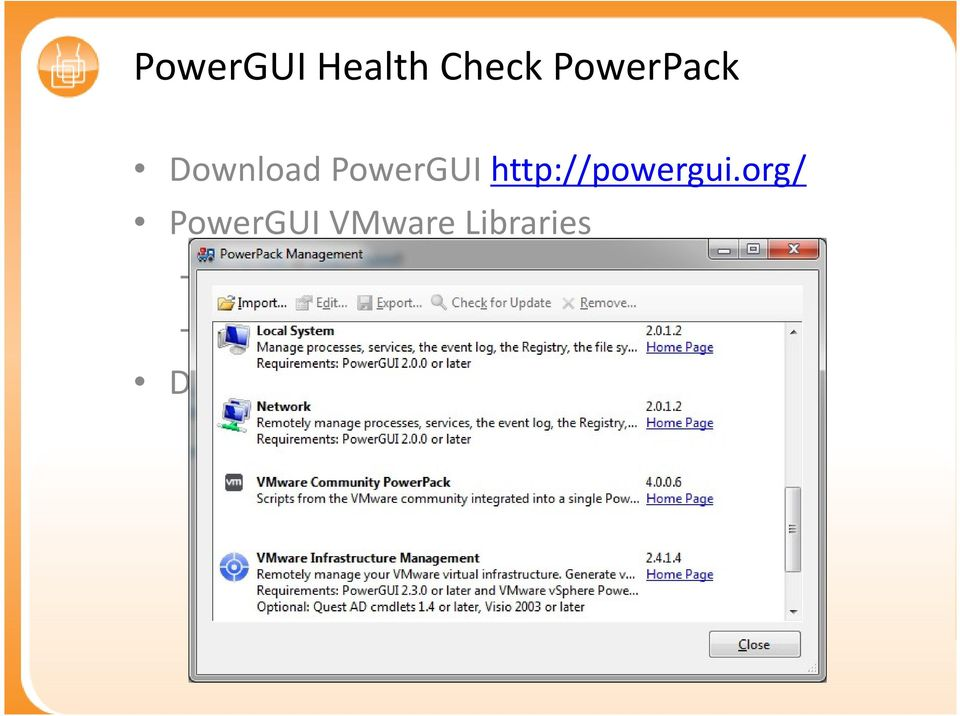 org/ PowerGUI VMware Libraries Installeer
