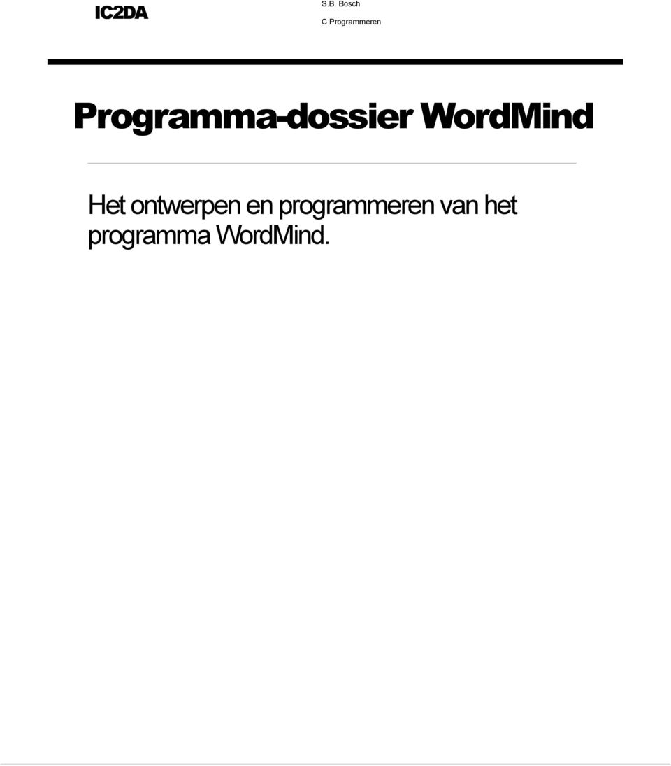 Programma-dossier WordMind