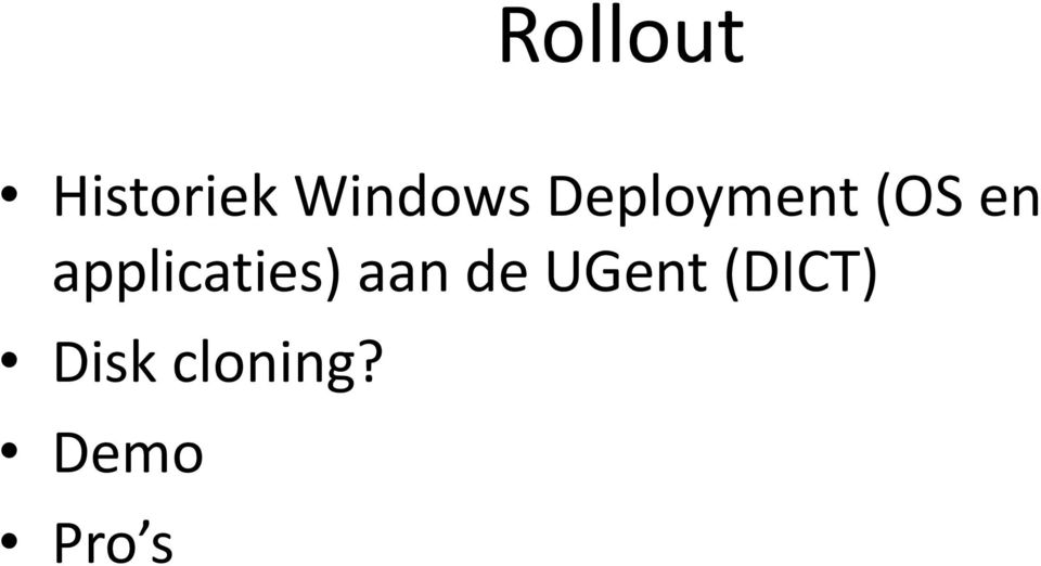 applicaties) aan de UGent
