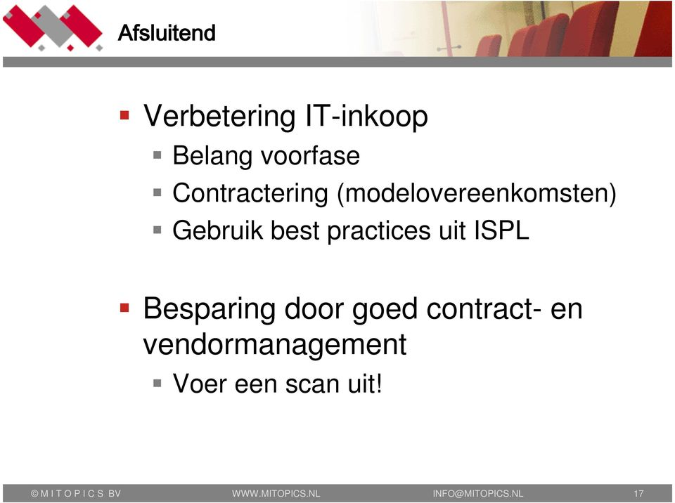 Besparing door goed contract- en vendormanagement Voer