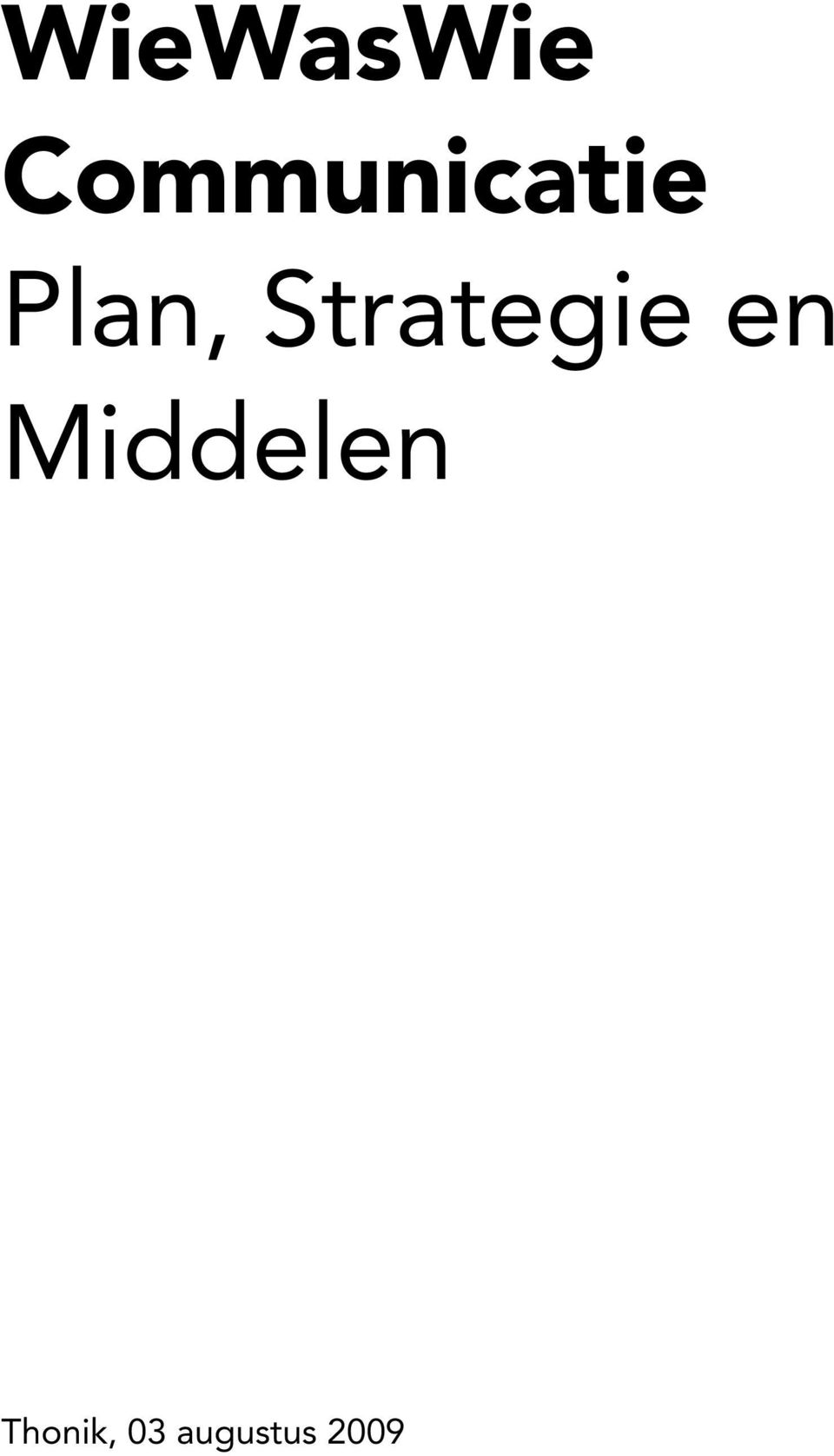 Strategie en