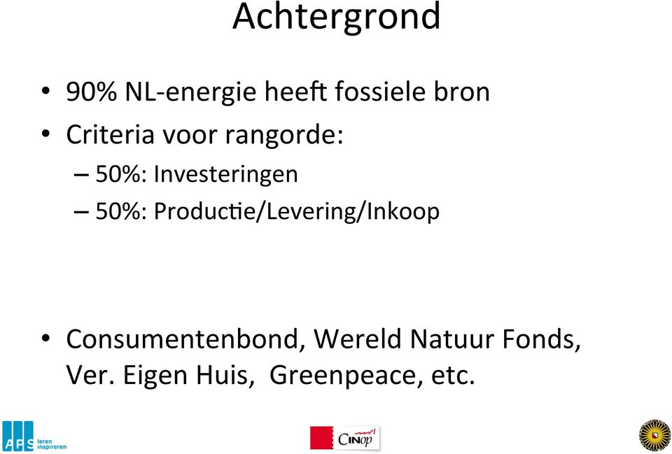 ProducMe/Levering/Inkoop Consumentenbond,