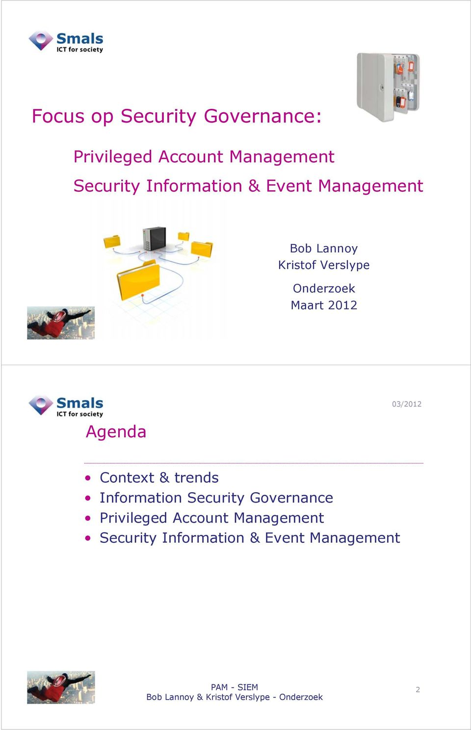 Maart 2012 Agenda Context & trends Information Security Governance