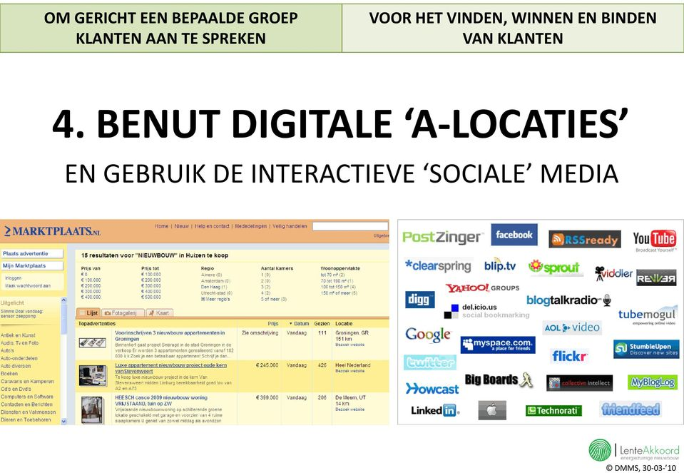 BENUT DIGITALE A-LOCATIES EN