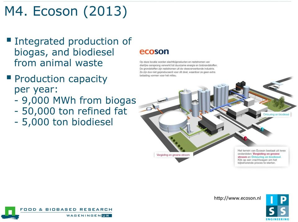 capacity per year: - 9,000 MWh from biogas -