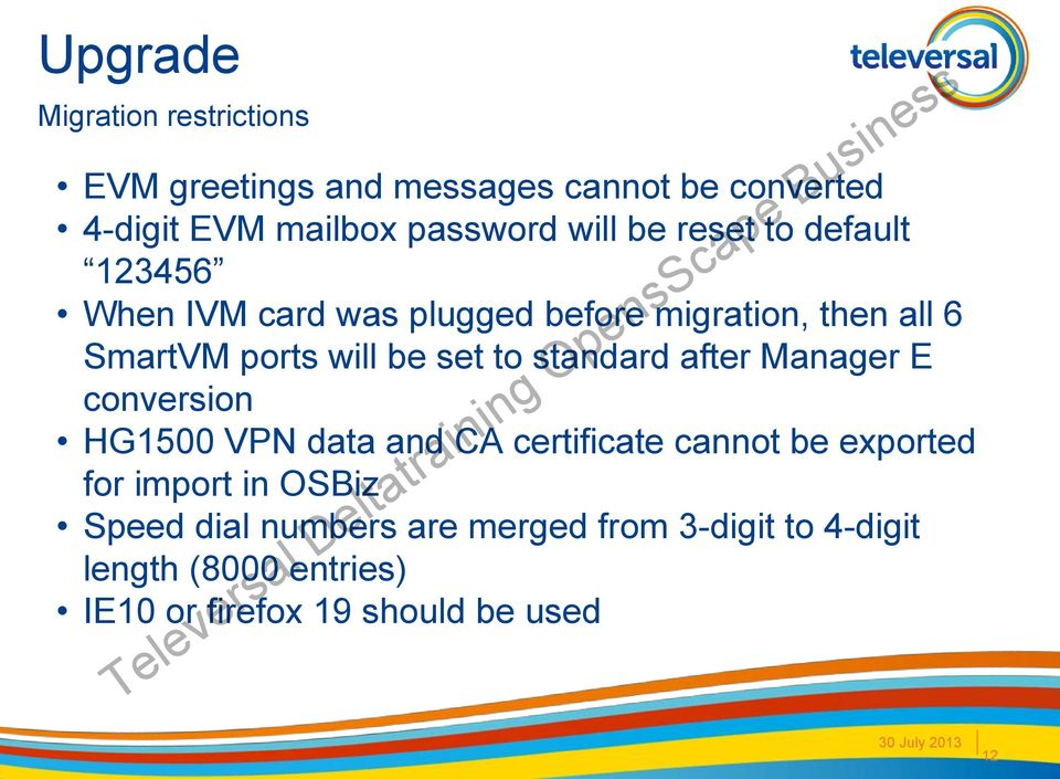 standard after Manager E conversion HG1500 VPN data and CA certificate cannot be exported for import in OSBiz