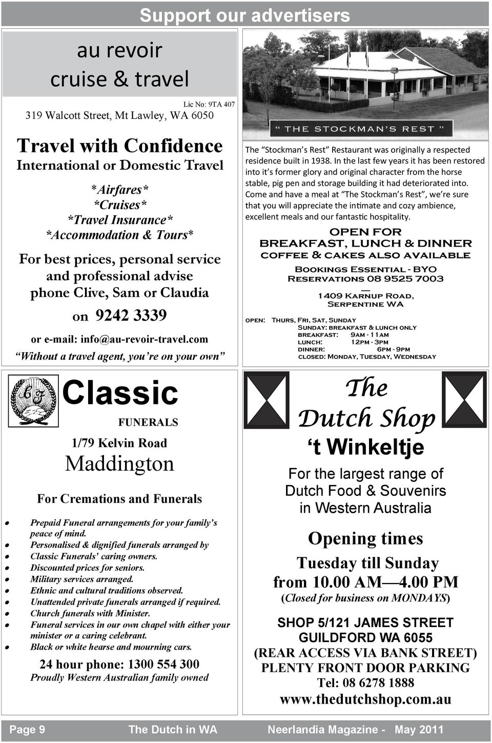 Perth wa may 2011 volume 43 issue 4 pdf com without a travel agent you re on your own classic support our advertisers funerals fandeluxe Image collections