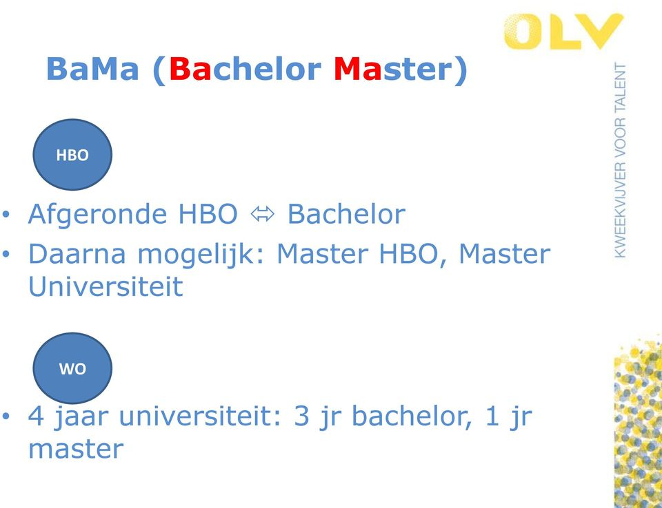 HBO, Master Universiteit WO 4 jaar