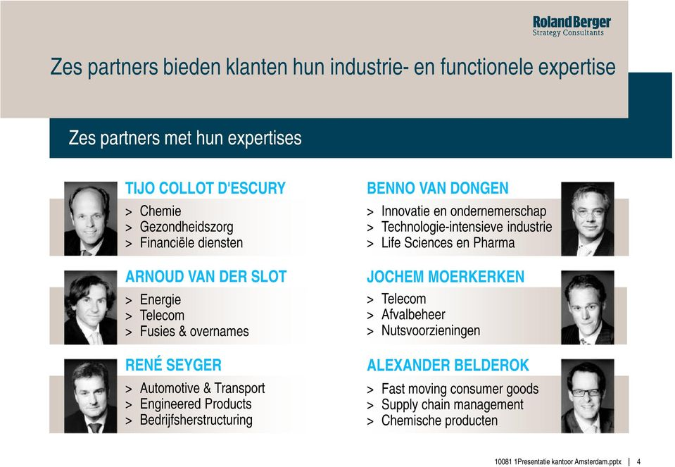 Engineered Products > Bedrijfsherstructuring BENNO VAN DONGEN > Innovatie en ondernemerschap > Technologie-intensieve industrie > Life Sciences