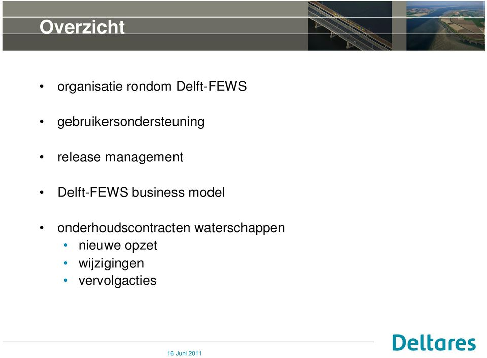 Delft-FEWS business model