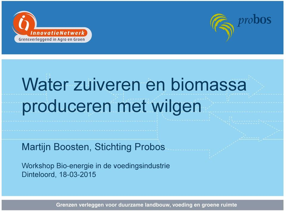 Probos Workshop Bio-energie in de