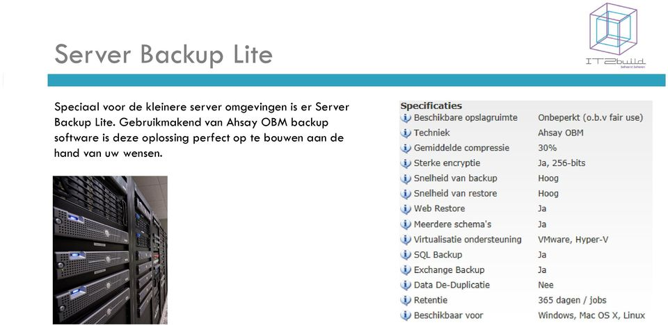 Gebruikmakend van Ahsay OBM backup software is