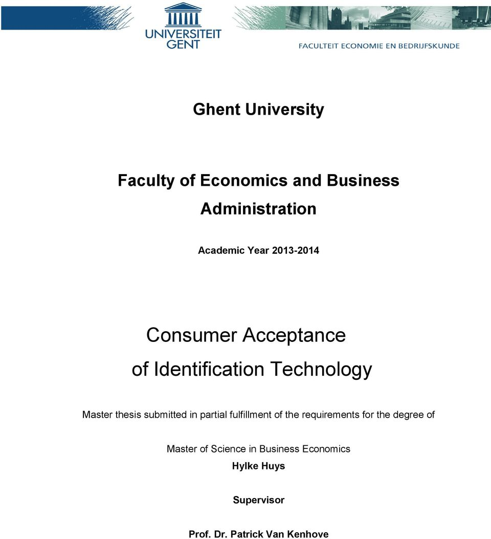 submitted in partial fulfillment of the requirements for the degree of Master