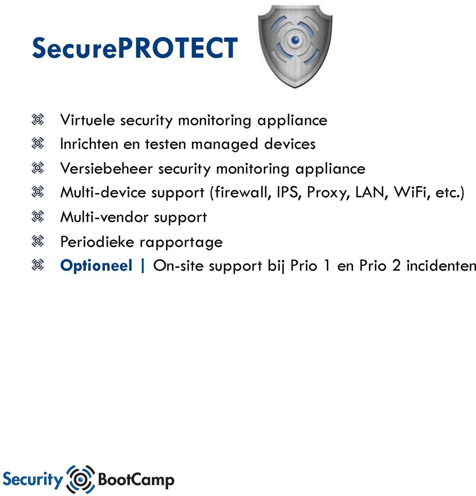 Versiebeheer security monitoring appliance!