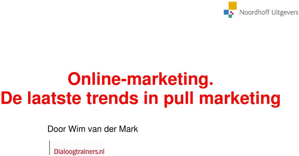 in pull marketing