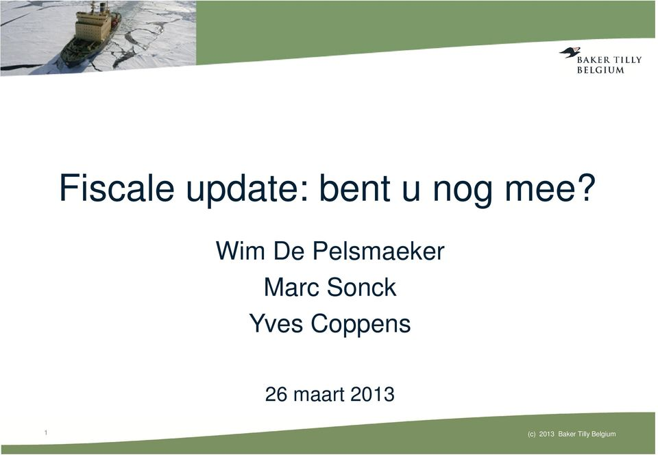 Sonck Yves Coppens 26 maart