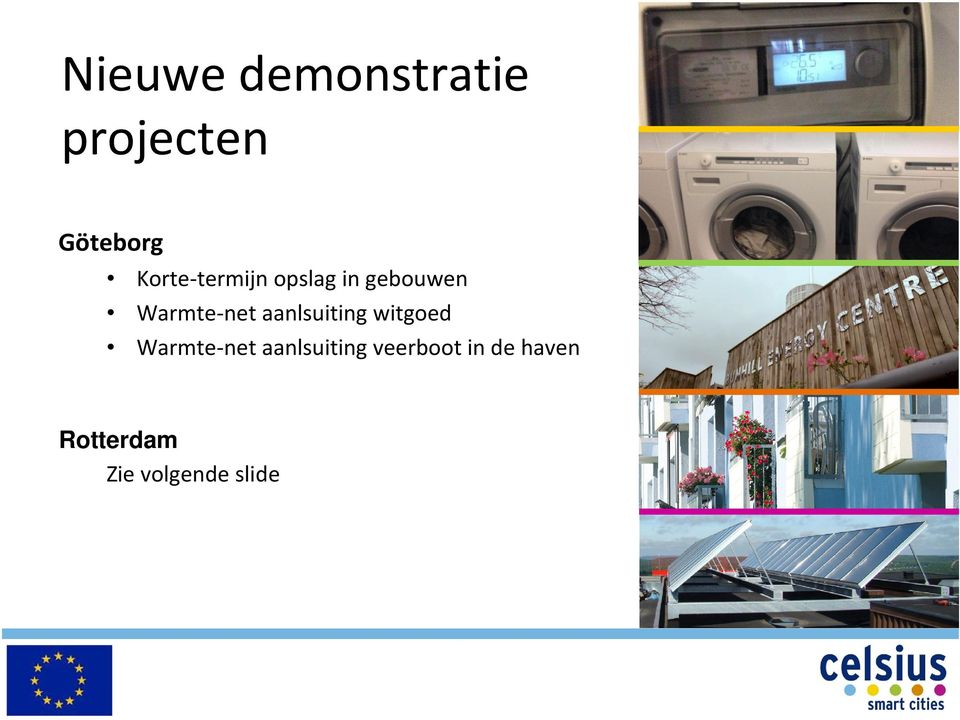 aanlsuiting witgoed Warmte-net aanlsuiting