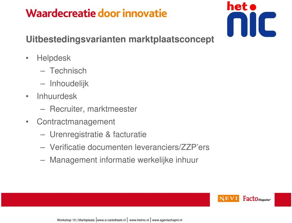 Contractmanagement Urenregistratie & facturatie Verificatie