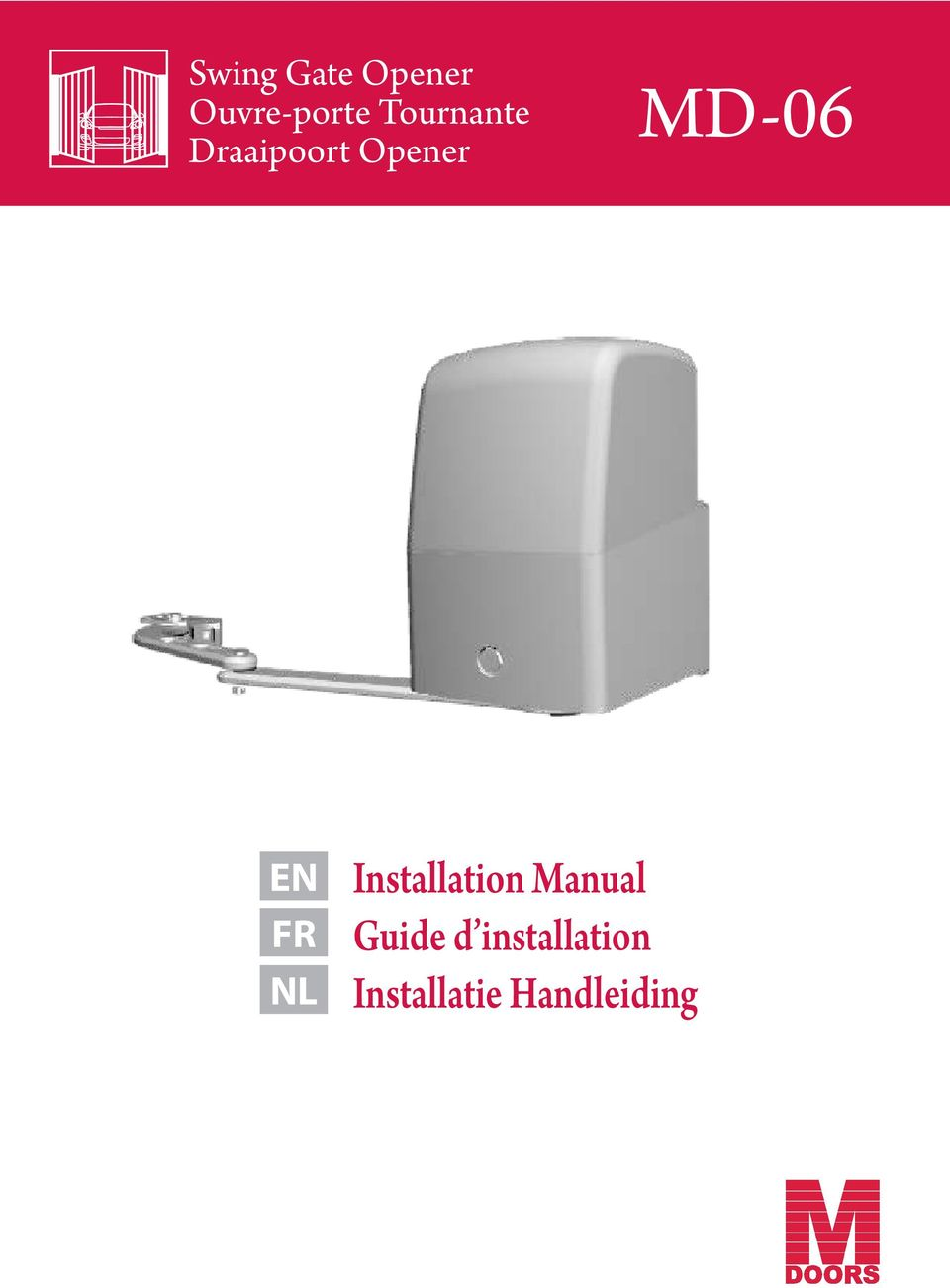 MD-06 Installation Manual Guide