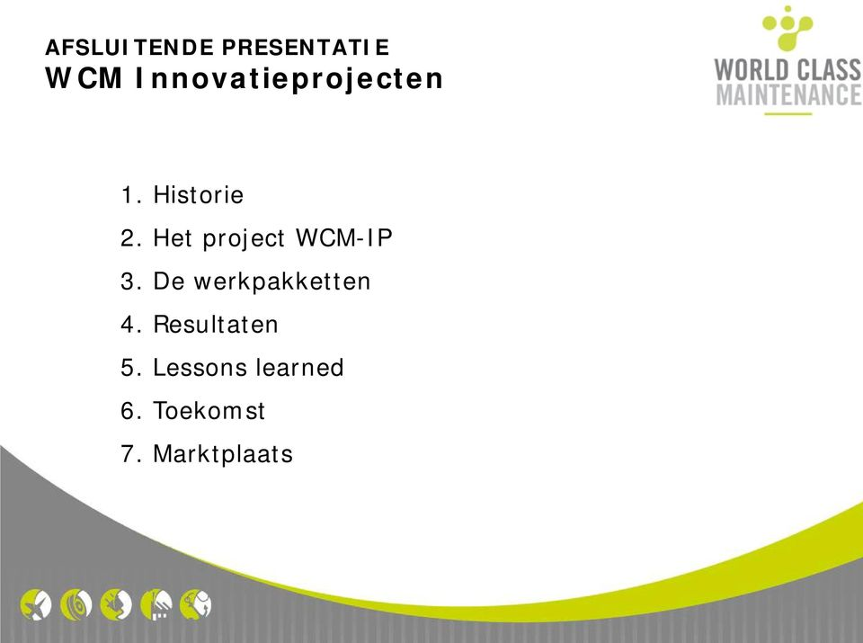 Het project WCM-IP 3.