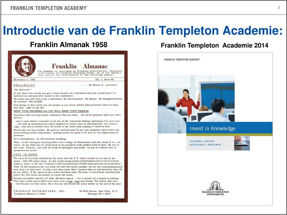 Templeton Academie 2014 For professional