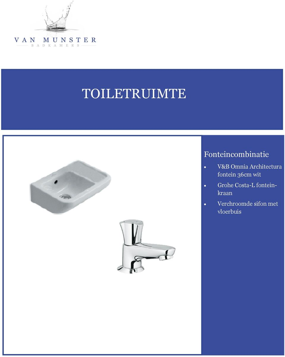 36cm wit Grohe Costa-L