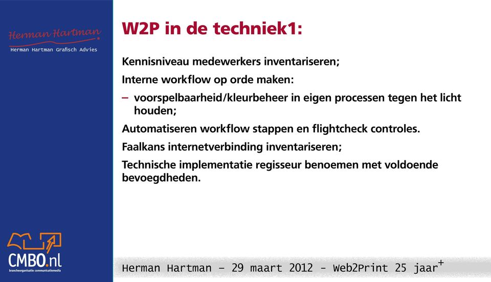 Automatiseren workflow stappen en flightcheck controles.