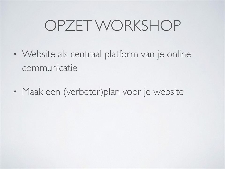 online communicatie Maak