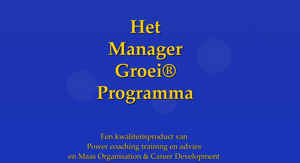 coaching training en advies en