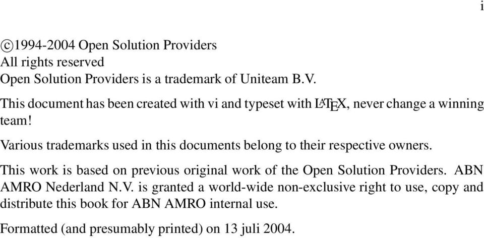 Various trademarks used in this documents belong to their respective owners.